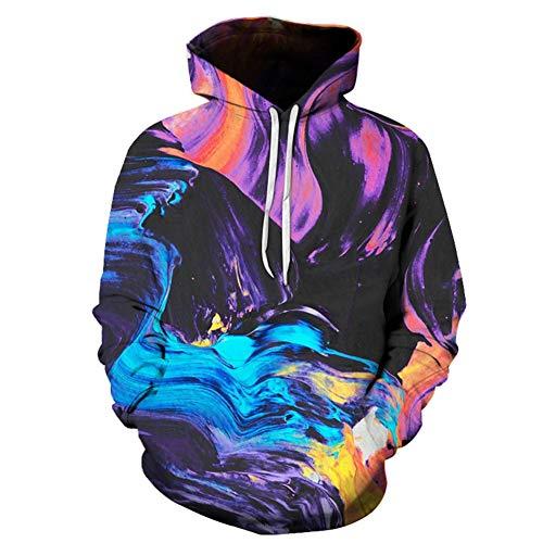 Unisex 3D Malerei Kunst Druck Kapuzenpullover Langarm Pullover Hoodie für Herren Damen,6xl -