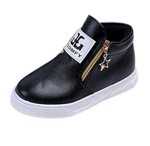 Stiefel Kinder Schwarze (Covermason Herbst-Winter Kinder Baby Jungen Mädchen Martin Stiefel Sneaker Baby Freizeitschuhe (EU: 20,)
