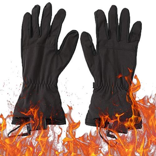Elettrico riscalda i guanti, touch screen temperatura regolabile a tre velocità che emette luce a infrarossi for escursioni a piedi e in bicicletta sci ( Colore : Nero , Taglia : L/XL )