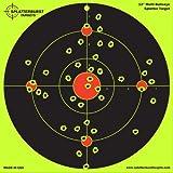Confezione da 25 - 30.5 cm - Multi - Bullseye Splatterburst bersagli reattivi di tiro -Immediatamente vedere i tuoi colpi all'impatto - Perfetta per tutte le armi da fuoco, fucili, pistole e fucili d'aria!