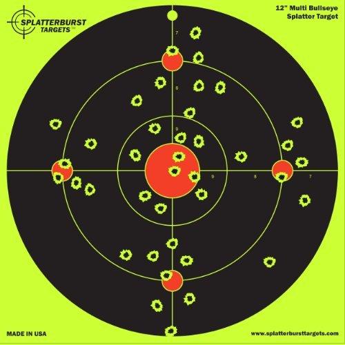 confezione-da-25-multicolori-splatterburst-3048-cm-12-bullseye-motivo-bersaglio-e-possibile-vedere-i