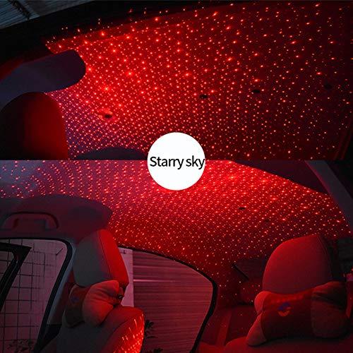 Zooarts LED Auto Atmosphäre Lampe Innenraum Sterne Licht USB Fernbedienung Romantische Dekoration (Starry sky) (Auto-licht-lampen)