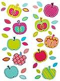 Unbekannt 42 tlg. Set XL Wandtattoo bunte Äpfel - Wandsticker Apfel Frucht Obst rosa Aufkleber Wandaufkleber - selbstklebend für Wohnzimmer und Kinderzimmer Deko Sticke