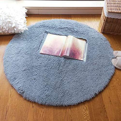 AJON- Gradientenfarbe Teppich Mode Persönlichkeit Lange Haare Waschbar Runden Teppich