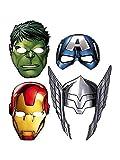 """'De los Vengadores montar """"máscaras de papel (8CT) nuevo"""