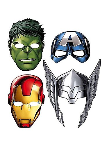 Paper Masks (8ct) (Eishockey-party Supplies)