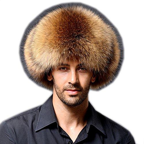 ütze Mode Kosaken Russian Style Hut Dicke Warme Runde Hut mit Gehörschutz für Männer (Kamel) (Kosaken-hut Herren)