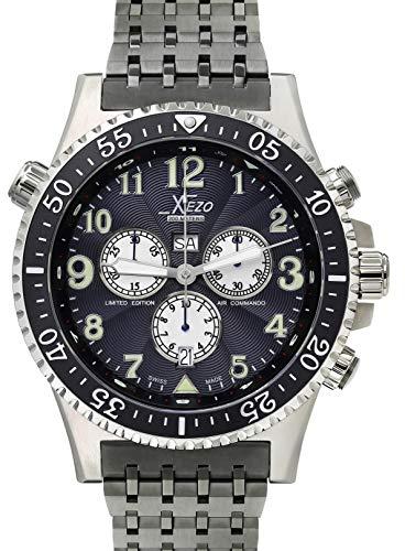 Orologio Stile Vintage cronografo svizzero Xezo Air Commando, da uomo,...