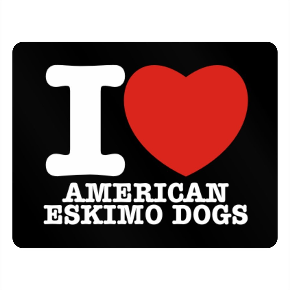 Teeburon I love American Eskimo Dogs Horizontal Sign