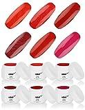 nded kit gels de couleur 6 pièces - rouge