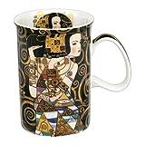 CARMANI - Klassischen Becher von Gustav Gustav Klimt dekoriert mit 'Erwartung' 350ml
