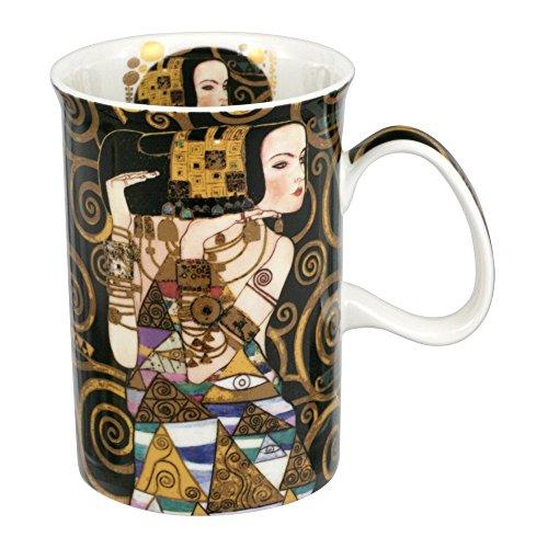 CARMANI - Klassischen Becher von Gustav Gustav Klimt dekoriert mit \'Erwartung\' 350ml