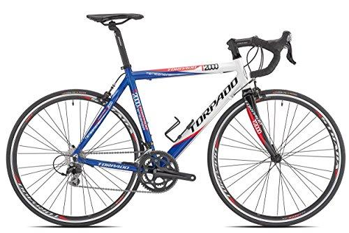 TORPADO BICICLETA CORRER TEMERARIA 10V ALU CARBON TALLA 48AZUL BLANCO (CORSA STRADA)/BICYCLE ROAD TEMERARIA 10V ALU CARBON SIZE 48BLUE WHITE (ROAD RACE)