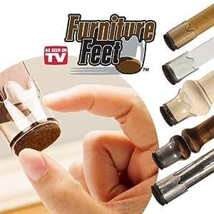 "Furniture Feet Flexible Floor Protectors 8 Pack (Large, Fits Legs 1 3/8""-1 5/8"") by Ontel"