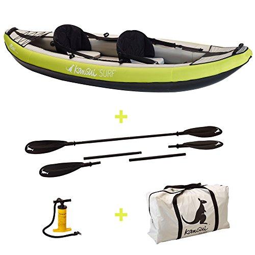 KANGUI canoa kayak hinchable Maui 1de 2plazas + paleta + bolsa transporte...