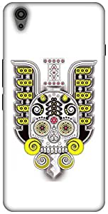 The Racoon Grip printed designer hard back mobile phone case cover for Oneplus X. (Neon Skull)