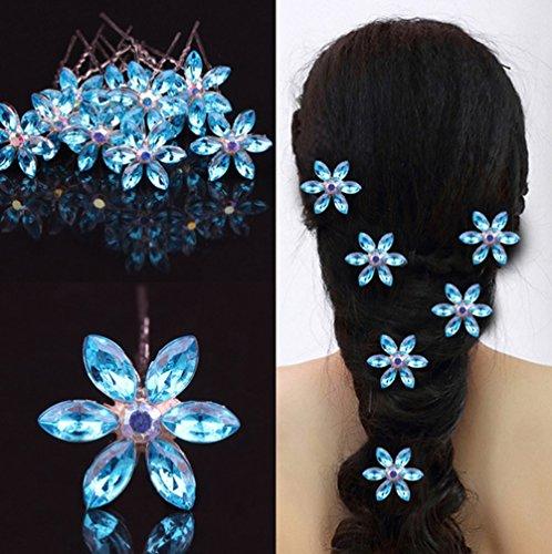 Kristall Strass Blumen Frauen Girl Haar-Pin Zubehör (Strass Halloween-pins)
