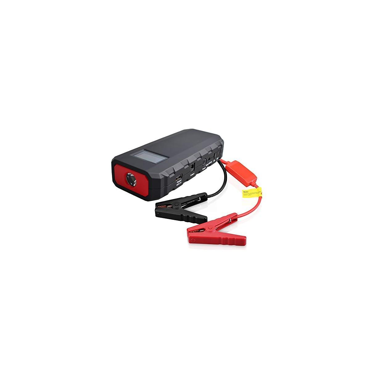 51AaWQnI%2BLL. SS1200  - Maxesla Jump Starter Batería Portátil de Emergencia para coche, Arrancador de Coche 14000mAh, 400A Jump Starter Cargador de 12V Batería Para Vehículo (Batería Externa, LED, Pantalla LCD,Arranque Kit Para Coche)