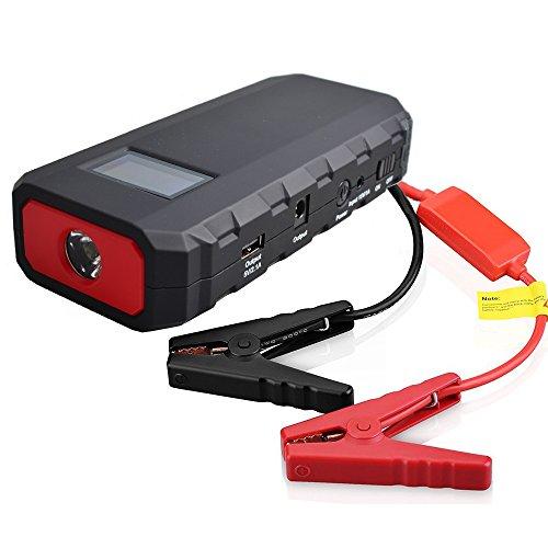 Preisvergleich Produktbild Maxesla 400A Spitzenstrom 14000mAh Tragbare Auto Starthilfe Autobatterie Anlasser mit LED Taschenlampe,  LCD Display,  Dual USB Schnellladegerät