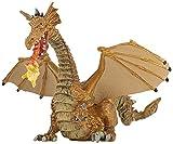 Papo - 39095 - Figurine - Conte et Légende - Dragon Or avec Flamme