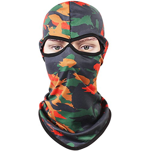 ull Face-Maske, Kapuze, mit Loch für Motorrad und Fahrrad, vom Militär-Outdoor-Aktivitäten, Camo Red (Löcher Film Kostüme)
