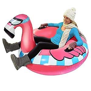 SMILINGGIRL Winter Schlauchboot Snow Tube, Ski-Tobog – Großes Schlauchboot Für Einfaches Tragen, Weihnachtsgeschenkspielzeug Für Kinder Und Erwachsene