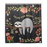 My Daily Follow Your Dreams Faultier Duschvorhang 167,6x 182,9cm, schimmelresistent & Wasserdicht Polyester Dekoration Badezimmer Vorhang