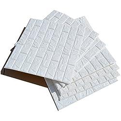 Carta da parati mattone l 39 effetto legno pietra a casa e for Carta adesiva 3d