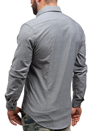 BOLF - Chemise casual – Manches longues – Elégant – GLO STORY 9666 - Homme Graphite