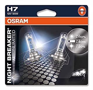 OSRAM NIGHT BREAKER UNLIMITED H7, halogen-headlamp bulb, 64210NBU-02B, 12V, double blister (Pack of 2) (B00FQ8AT6Q) | Amazon price tracker / tracking, Amazon price history charts, Amazon price watches, Amazon price drop alerts