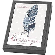 Lichtungen - Kartenset: 10 Weihnachts-Faltkarten im Schmuckkarton