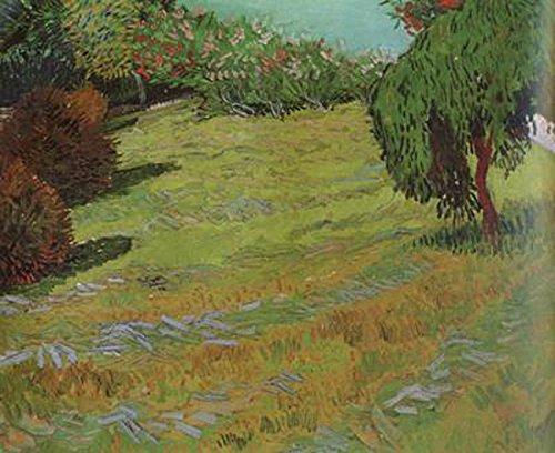 Sunny Lawn in a Public Pack,Vincent Van Gogh,60.5x73.5cm
