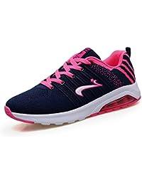 SHINIK Zapatos de mujer Spring Summer Comfort Zapatos atléticos Plataforma Punta redonda Con cordones para un...