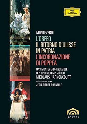 Book's Cover of Pack Monteverdi Incluye LOrfeo  LIncoronazione Di Poppea  Il Ritorno DUlisse In Patria Import anglais