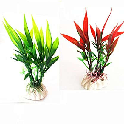 oobest 1 pc Ornament Aquarium Plant Decoration Plastic Water Grass Aquatic Plant for Fish Tank 2