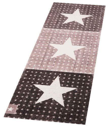 Zala Living Star Boulevard Waschbarer Küchenläufer, Polyamid, Braun, 140 x 45 x 0.5 cm -