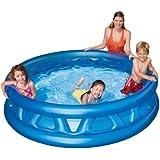Ajmeri Intex Soft PVC Pool for Kids, 6 Feet (Blue)