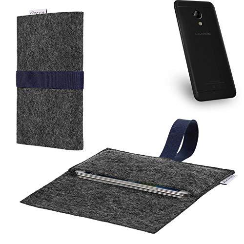 flat.design vegane Handy Hülle Aveiro für UMIDIGI C2 passgenaue Filz Tasche Case Sleeve Made in Germany