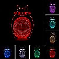 Wmbz Belle Bande Dessinée Totoro 3D Illusion Optique Nuit Lumière Enfant  Bébé Lampe De Couchage Meilleurs 192ccae17f0