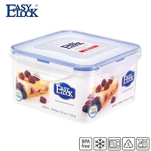 Cajas de almacenamiento de alimentos contenedores cuadrados de plástico con tapa cocina hermético transparente caja de almuerzo 42.3oz