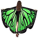 Karneval Kostüm Cape Schmetterlingsflügel feenhafte Nymphe Pixie Damen Faschingskostüme Schmetterling Schal Mädchen Kimono Frauen 168 * 135CM