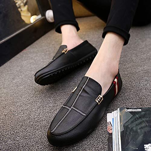 f3b41ae7 NZXAJKDH Causal Zapatos Hombre Mocasines Zapatillas De Deporte De Cuero  Genuino Barco Calzado para Adultos Calzado