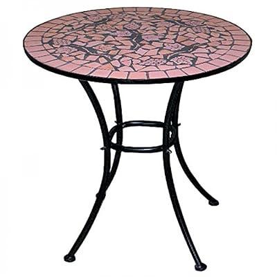Mosaiktisch Gartentisch ~ Terrakotta