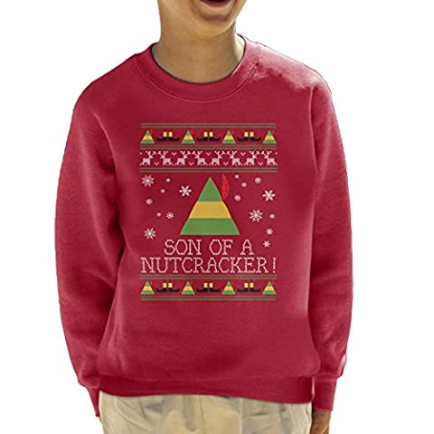 Son Of A Nutcracker Elf Quote Christmas Knit Kid's