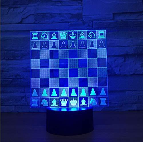 Chess Board 3D Lampe 7 Farbwechsel Led Nachtlicht Für Kinder Touch Led Usb TabelleBaby Schlafen Beleuchtung Kis Geschenk