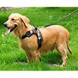 PSK Pet Supplies K9 Harness for Large Dogs That Has Adjustable Straps Pet Vest Harness Safety for Dogs (Large…
