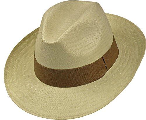Leichter Hut in 3 Farben große Bogartform!, Farben:beige, Kopfgröße:57 (Den In Hut)