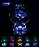 Glaskugel 3D Sonnensystem mit Lichtbasis klar Sonnensystem Ball CE-Zertifikat Geburtstagsgeschenk für Astronomen Liebhaber des Universums Erwachsene und Kinder (B)