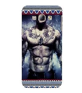 ifasho Designer Phone Back Case Cover Samsung Galaxy A8 (2015) :: Samsung Galaxy A8 Duos (2015) :: Samsung Galaxy A8 A800F A800Y ( Skull Man Skull Symbol HellMan )