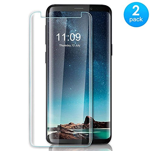 [2-Pack] Samsung Galaxy S9 High Quality Screen Protector, JTMall 0.26mm 9H Hardness and Easy Bubble-Free Installation 3D Touch Compatible Premium Tempered Glass Film [Scratch-Resistant][Anti-Shatter] Screen Protector For Samsung Galaxy S9